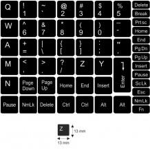 N3 Anahtar etiketleri - orta kit - siyah arka plan - 13:13 mm