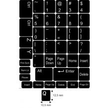N6 Anahtar etiketleri - orta kit - siyah arka plan - 12,5:10,5mm