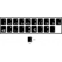 N19 Anahtar etiketleri - Portekizce - orta kit - siyah arka plan - 14:12 mm