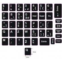 N5 Anahtar etiketleri - Fransızca - büyük kit - siyah arka plan - 14:12 mm